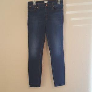 J Crew Stretch Blue Skinny Jeans